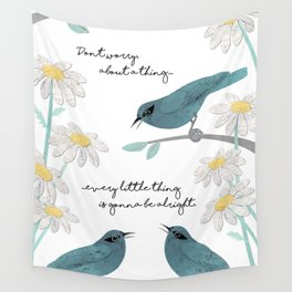 Three Little Birds (Parts 1 and 2) Wall Tapestry