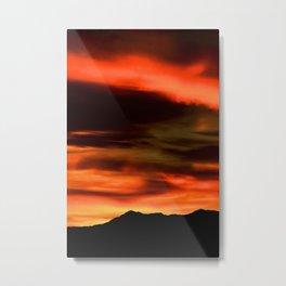 SW Orange Mountain Sunrise - II Metal Print