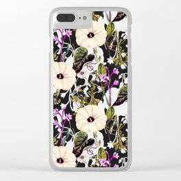 Flowery abstract garden Clear iPhone Case