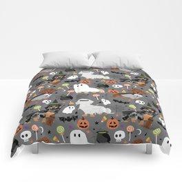 Dachshund dog breed halloween cute pattern doxie dachsie dog costumes Comforters