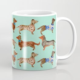 Dachshunds on Blue Coffee Mug