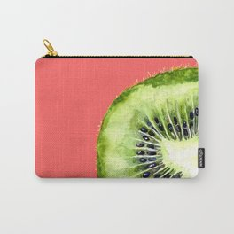 Kiwi on Coral Carry-All Pouch