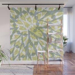 Leaf mandala // tropical leaf circular pattern Wall Mural