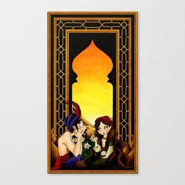 Sharyar and Scheherazade Canvas Print