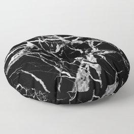 Black marble pattern Floor Pillow