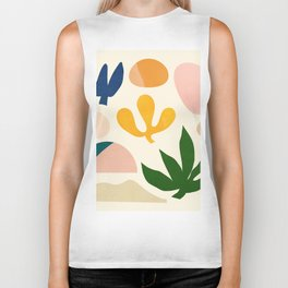 Abstraction_Floral_001 Biker Tank