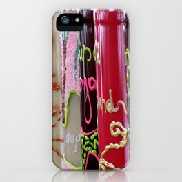Colorful bottles. iPhone Case