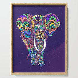 Not a circus elephant Serving Tray