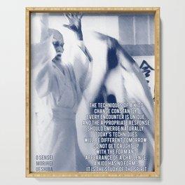 Aikido Quote by Morihei Ueshiba, Aikido Dojo Decor, Martial Arts Print Serving Tray