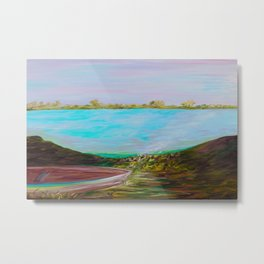 A Boat and a Seamless Sky Metal Print