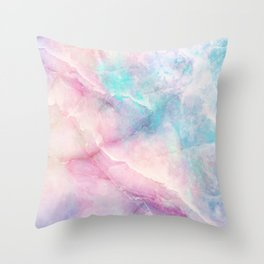 Iridescent marble Throw Pillow