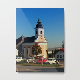 The village church of Kirchschlag | architectural photography Metal Print