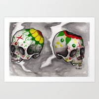 Calacas Otra Ves Art Print
