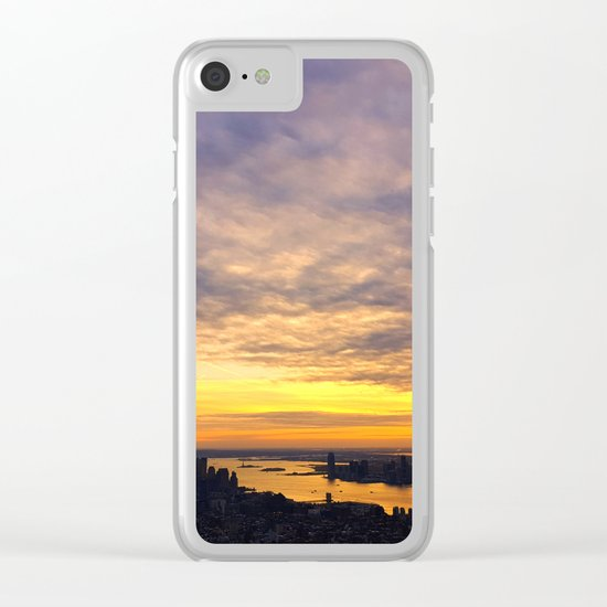 New York skyline Clear iPhone Case