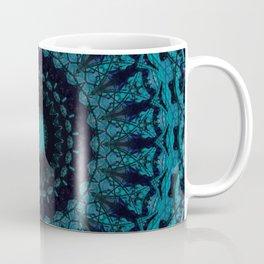 Mandala in light and dark blue tones Coffee Mug