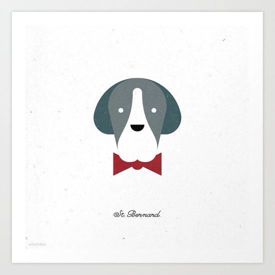 Pedigree: St. Bernard Art Print