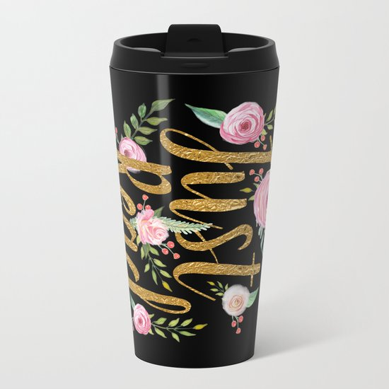 Just Read - Black Metal Travel Mug