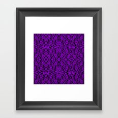 Royal Purple Lace Framed Art Print