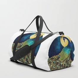Golden Peacock Duffle Bag
