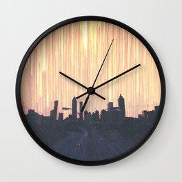 Lights Over Atlanta Georgia Skyline Wall Clock