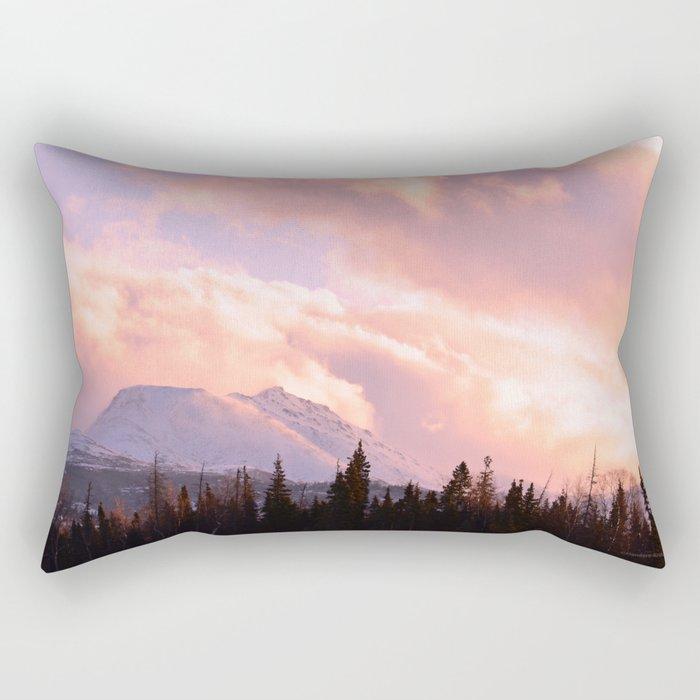 Rose Quartz Turbulence Rectangular Pillow