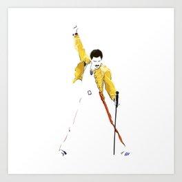 Queen at Wembley Stadium in 1986. Art Print