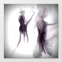 ballet Canvas Prints featuring Ballet by Jessielee