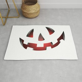 Pumpkin Head Red Rug