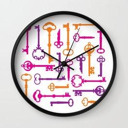 Skeleton Keys Wall Clock