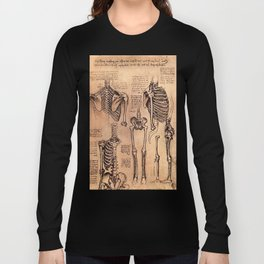 Study of Skeletons - Leonardo da Vinci Long Sleeve T-shirt