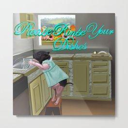 Kitchen Helper Metal Print