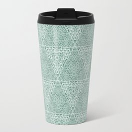 Decorative Mint Green Burlap Texture Pattern Travel Mug
