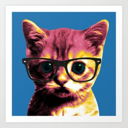 Pop Art Cat Art Print