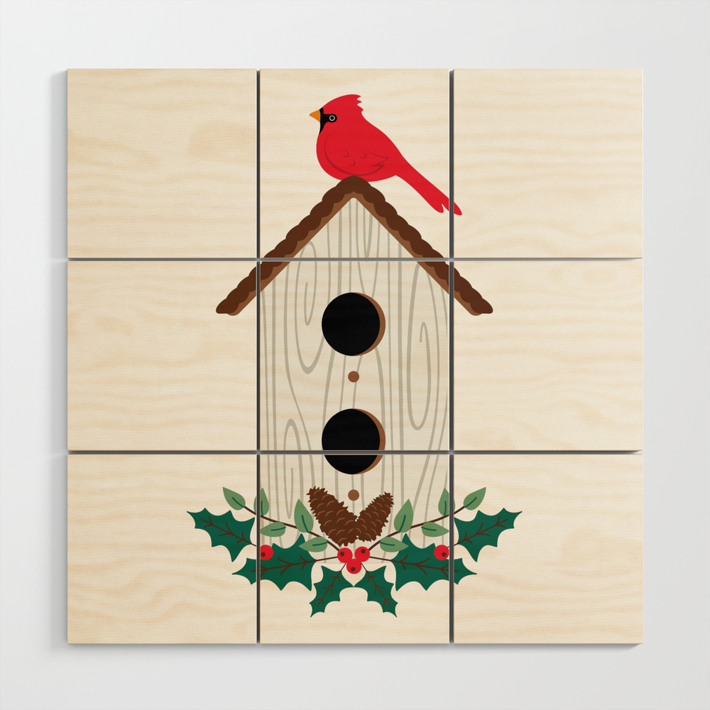 Bird House Wood Wall Art by hopscotchdesignshop (WWA9630629) photo