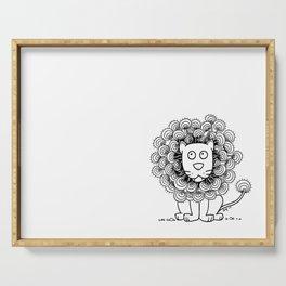 A Lion's mane Serving Tray