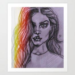 VS Model Art Print