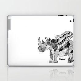 Illustrated Rhino – Union – Black Laptop & iPad Skin