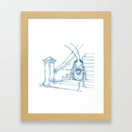 Cup O' Coffee NYC Style_cockroach Framed Art Print