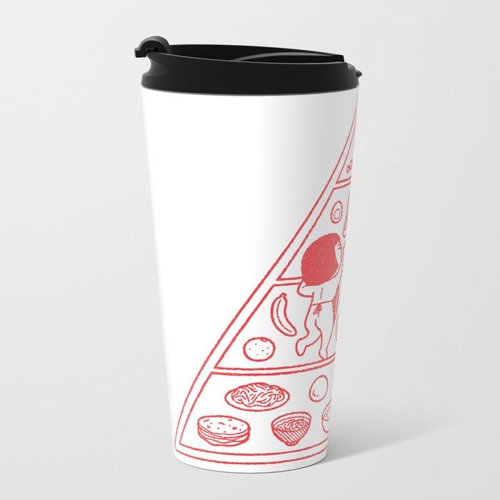 Food Pyramid Metal Travel Mug