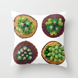 Decorated fancy cakes Throw Pillow