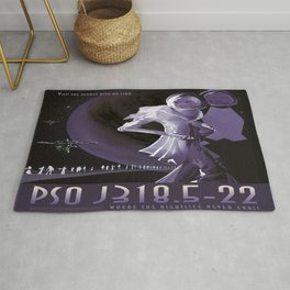 PSO J318.5-22 : NASA Retro Solar System Travel Poster Rug