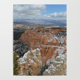 Snow in Bryce Canyon Utah Poster