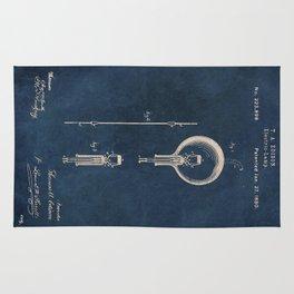 Electric lamp Edison patent art Rug
