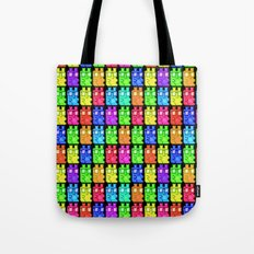 Pixel Gummy Bears Tote Bag
