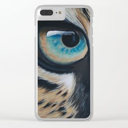 Inaction - Leopard Clear iPhone Case