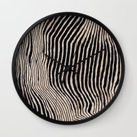 calligraphy Wall Clocks featuring it's waving calligraphy by Anna Grunduls