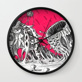 Outskirts of Vision - alternative cover art 2 Wall Clock
