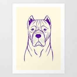 Cane Corso (Beige and Purple) Art Print