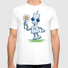 Ned's Flower SMALL Mens Fitted Tee White
