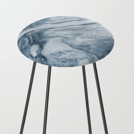Cipollino Azzurro blue marble Counter Stool